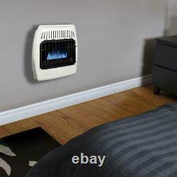 10000 BTU White Dual Fuel Convection Vent Free Wall Heater Home Cabin Warmer