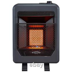 10,000 BTU Vent Free Propane Gas T-Stat Control Infrared Gas Space Heater with B