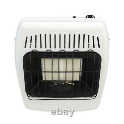 12000 BTU White Dual Fuel Propane Natural Gas Infrared Vent Free Wall Heater