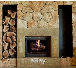 18 in. Dual Fuel Fireplace Logs Natural Gas Liquid Propane Vented Insert Kit