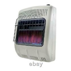 20,000 BTU Vent Free Blue Flame Natural Gas Heater with Wall Mounting Brackets