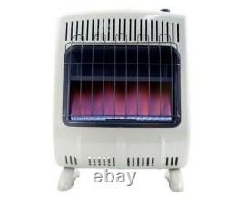 20,000 Btu Vent Free Blue Flame Natural Gas Heater Quickly Efficiently Warms