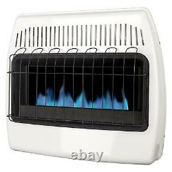 30000 BTU Natural Gas Blue Flame Vent Free Wall Heater Versatile