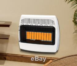 30,000 BTU Space Heater Natural Gas Infrared Vent Free Home Garage Wall Mount