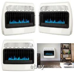 30,000 BTU Vent Free Natural Gas Blue Flame Wall Heater