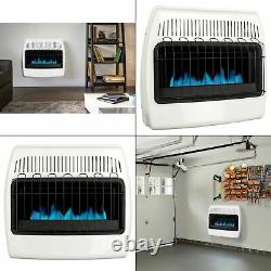 30,000 BTU Wall Heater Vent Free Liquid Propane Blue Flame Powerful Home Heat