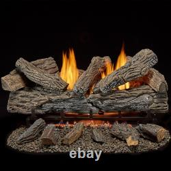 30 in. Vent Free Natural Gas Log Set with Remote