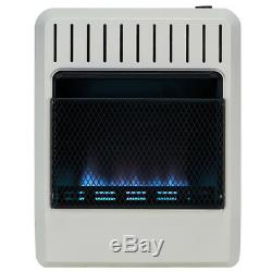 Avenger Dual Fuel Ventless Blue Flame Gas Heater With Base, Vent Free 20K BTU