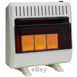 Avenger Dual Fuel Ventless Infrared Gas Heater With Blower and Base, Vent Free
