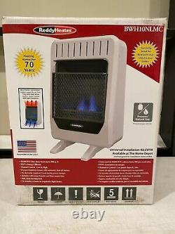 Blue Flame 10K BTU PROPANE/NATURAL GAS Dual-Fuel Wall Heater with BLOWER BWH10NLMC