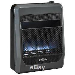 Bluegrass Living Natural Gas VentFree Blue Flame Gas Heater With Blower and Feet
