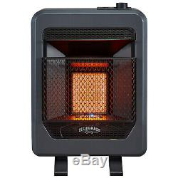 Bluegrass Living Natural Gas Vent Free Infrared Gas Space Heater With Base Feet