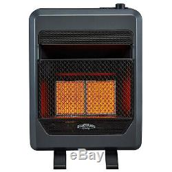 Bluegrass Living Propane Gas Vent Free Infrared Gas Heater With Blower and Feet