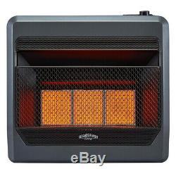 Bluegrass Living Propane Gas Vent Free Infrared Gas Space Heater 28K BTU T-Stat