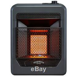 Bluegrass Living Propane Gas Vent Free Infrared Gas Space Heater With Base Feet