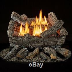 Bluegrass Living Vent Free Natural Gas Log Set 18in Traditional Oak 30,000 BTU