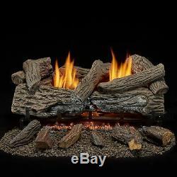 Bluegrass Living Vent Free Natural Gas Log Set 24 Traditional Oak, B24NR-ES1