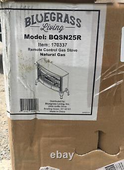 Bluegrass Living Vent Free Natural Gas Stove 25,000 BTU Remote Control #BQSN25R