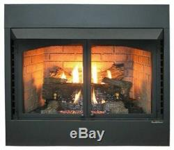 Buck Stove 36 Vent Free Zero Clearance Gas Fireplace with Oak Logs NG