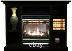 Buck Stove Vent Free Gas Stove with Prestige Mantel in Black NG