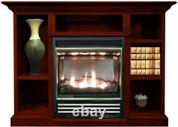 Buck Stove Vent Free Gas Stove with Prestige Mantel in Cherry NG