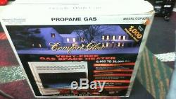 COMFORT GLOW Vent Free Blue Flame PROPANE Gas Wall Heater 15,000-30,000 BTU