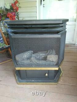 Comfort Glow Vent-Free Natural Gas Freestanding Pedestal Stove System