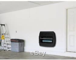 Dual Fuel Garage Heater 30,000 BTU Propane Natural Gas Blue Flame Heat Vent Free