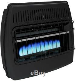 Dual Fuel Garage Heater Convection Surface Mount Blue Flame Vent Free 30,000 BTU