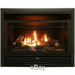 Duluth Forge Dual Fuel Vent Free Insert-26000 BTU Remote Control Fireplace In