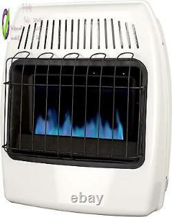 Dyna-Glo 20,000 Btu Natural Gas E Flame Vent Free Wall Heater, White