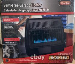 Dyna-Glo 30,000 BTU Blue Flame Thermostatic Garage Vent Free Wall Heater Black