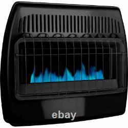 Dyna-Glo 30,000 BTU Blue Flame Vent Free Thermostatic Garage Heater Black