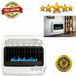 Dyna-Glo 30,000 BTU Natural Gas Blue Flame Vent Free Wall Heater White Household