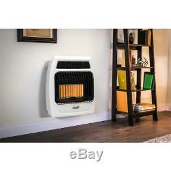 Dyna-Glo Gas Wall Heater 18,000 BTU Vent Free Unvented Thermostat Control Knob