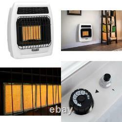 Dyna-Glo Infrared Wall Heater 12,000 BTU Vent Free Liquid Propane Thermostatic