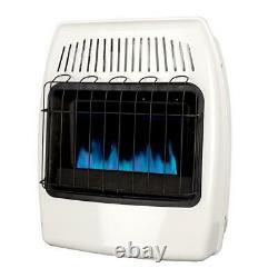 Dyna-Glo Natural Gas Wall Heater 20K BTU Vent Free Blue Flame Three Heat Setting