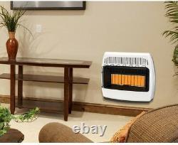 Dyna-Glo Wall Heater 30,000 BTU Infrared Vent Free LP Propane Home Cabin Garage