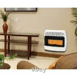 Dyna-Glo Wall Heater Infrared Liquid Propane Vent Free 30000 BTU Surface Mounted