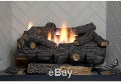 EMBERGLOW Natural Gas Fireplace 24 in Log Set Vent Free Remote Control Heater
