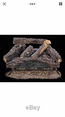 Emberglow Charred River Oak 24 Vented Natural Gas Log Set