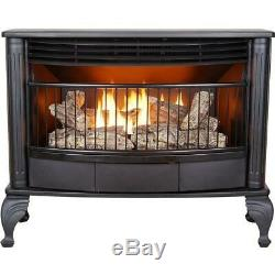 Emberglow Dual Fuel Gas Stove 25,000 BTU Vent-Free with Thermostat