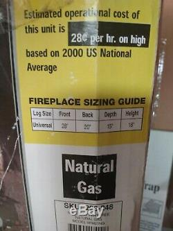 Emberglow Vent-Free Split Oak Gas Log Set, Manual Control, Natural Gas
