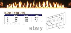 Empire Boulevard 48 Vent-Free Linear Fireplace VFLB48FP90 with Thermostat Remote