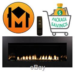 Empire Boulevard 48 Vent-Free Linear Fireplace VFLL48 CLOSEOUT SALE BLOWOUT