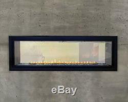 Empire Boulevard 48 Vent-Free Linear See Thru Gas Fireplace VFLB48SP90 Remote