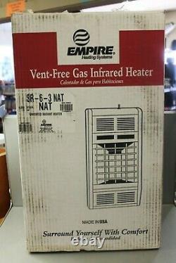 Empire SR6 Infrared Vent-Free Gas Heater 6000 BTU Natural Gas