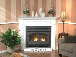 Empire White Mountain Vail Vent Free Fireplace Premium 36 Thermostat Natural Gas