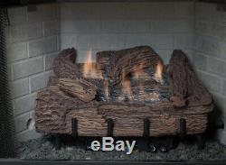 Everwarm 24 Palmetto Oak Gas Log Set Vent Free Remote Ready NG or LP