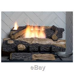 Fireplace Logs Vent Free Natural Gas Thermostatic Control Oxygen Depletion Senso